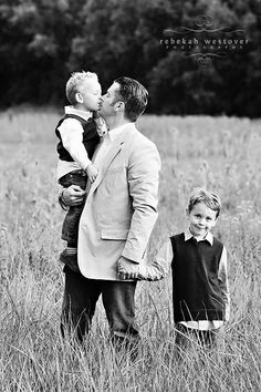 Dad and sons portrait