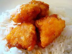 The best sweet and sour chicken ever. My husband would eat this every night of his life if I would make it (which I don't, so that he'll actually look forward to it when I do!).