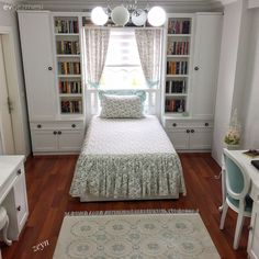Well thought-out corners, sophisticated and authentic decor. Home Room Design, Interior Design Living Room, House Design, Bedroom Built Ins, Girl Bedroom Designs, Home Decor Furniture, Bedroom Decor, Bedroom Storage, Vintage Diy