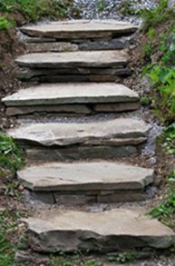How to Build Stone Steps into a Hill or Down a Bank