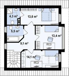 Проект дома К-231-6 -Готовые проекты домов