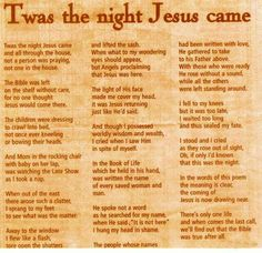 It is a photo of Soft Twas the Night Before Jesus Came Printable