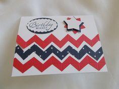 Chevron strips greeting card
