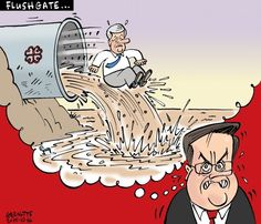 Les caricatures de Garnotte: Flushgate...