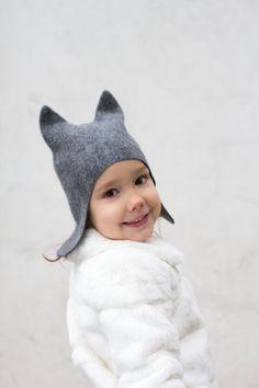 Felt cat hat / baby / toddler / children by LittleEwesFriend, €20.00