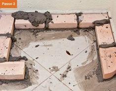 CONSTRUTORA SOUSA: Churrasqueira de tijolos, em 22 passos. Barbecue, Furniture, Home Decor, Bricks, Masonry Bbq, Cement, Creative Crafts, Creativity, Ovens