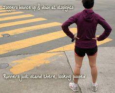 Runner Problems, I hate stoplights!