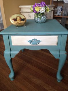 Shabby Chic End Table or Nightstand Hand by RejuvenationNation, $85.00