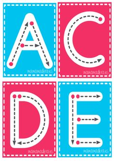 Letras mayúsculas para trazar – MamaMadera.es Fluency Activities, Alphabet Activities, Literacy Activities, Preschool Education, Preschool Curriculum, Preschool Worksheets, Teaching Autistic Children, Kids Learning, Alphabet Phonics