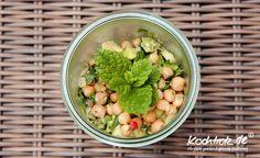 Kichererbsen-Salat mit Melone und Minze | kochtrotz - Rezepte für Gluten-Unverträglichkeit, Fructose-Intoleranz, Laktose-Intoleranz, Histamin-Intoleranz, Zöliakie, Sorbit-Intoleranz, jetzt auch vegan und sojafrei