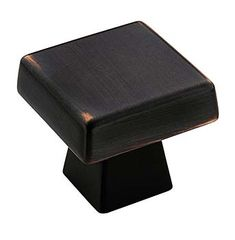 "Amerock BP55271ORB - Blackrock 1-3/16"" (30mm)Square Cabinet Knob (Oil Rubbed Bronze) - The Hardware Hut"