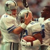 """Emmitt Smith wrote -   The Dallas Cowboys teams of the '90s rank among the finest football teams ever assembled. With rosters stocked with current and future Hall of Famers, and immortalized by one of the sport's most memorable phrases (""""How 'bout them Cowboys!""""), the teams were more ..."""
