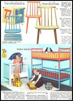 Pupuleipomo: Kodin kuvasto 1960 1970s Decor, Time Images, Good Old Times, Joko, Sissi, Childhood Memories, Retro Vintage, Toddler Bed, Nostalgia