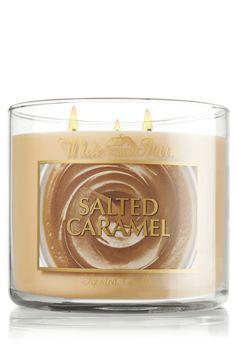 Salted Caramel 14.5 oz. 3-Wick Candle - White Barn - Bath & Body Works