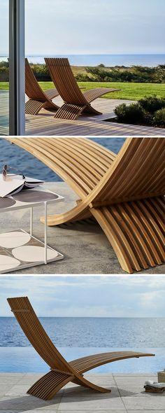 Luxury Garden Furniture | Seasons in Colour | Interior Design Studio and Blog Contemporary Garden Furniture, Luxury Garden Furniture, Skyline Design, Modern Design, Design Design, Outdoor Living, Outdoor Decor, Outdoor Settings, Interior Design Studio