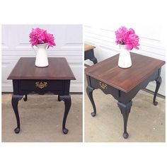 Two tone side table. French provincial  #restlessandrefurbished