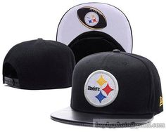 NFL Pittsburgh Steelers Snapback Hats Black Adjustable Caps Classics New  Era Brim Leather Under White Logo 349d08345