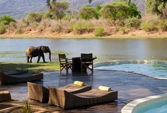 Poolandspa.com Chongwe River House pool - Zambia, Africa