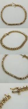 Diamond 10976: 2 Carat 10K Yellow Gold Woman Round Real Diamonds Tennis Bracelet 7.5 Inches -> BUY IT NOW ONLY: $429.99 on eBay!