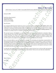 esl english as a second language teacher cover letter sample - Resume And Cover Letter