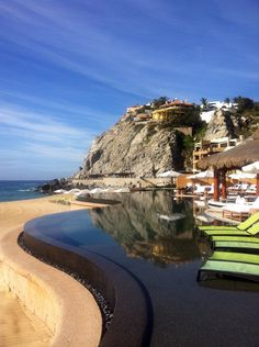 Beachfront living at Capella Pedregal in Los Cabos Mexico - check out that infinity pool.