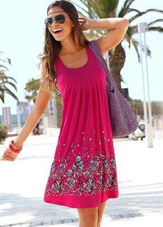 Beachtime Berry Petal Print Sun Dress | Holiday Fashion | Womens ...