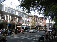 College Avenue in State College, Pa., home of Penn State.