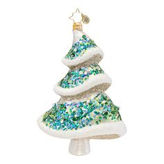 The Christopher Radko Emerald Eve Ornament is part of the 2013 Christmas Tree Collection of Radko Ornaments.