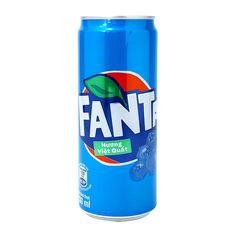 Всем знакомая Фанта с новым вкусом черники. Попробуй, как вкусно!