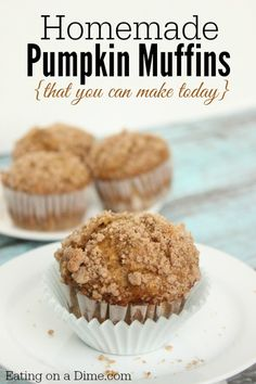 oh my, you are going to love this homemade pumpkin muffin recipe. You probably already have everything in your pantry.