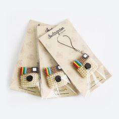 Crochet Mini Instagram Keychain