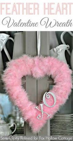 How to Make a Valentine's Day Feather Heart Wreath