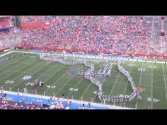 Florida Gators Marching Band. Sept.22, 2012 absolutely beautiful view of the pride of the sunshine