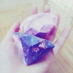 galaxy diamond (template: http://www.minieco.co.uk/3d-paper-diamonds/)