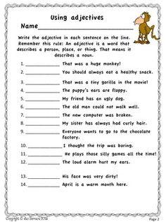 2nd grade reading language arts worksheets