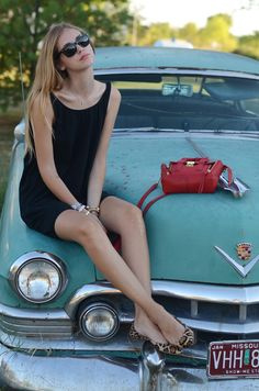The Girl and The Cadillac | Car Pictures