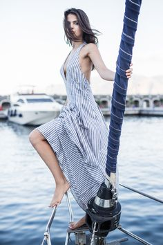 Italy on a yacht via http://thegoldendiamonds.com/jetset-diaries-dress-on-yacht/