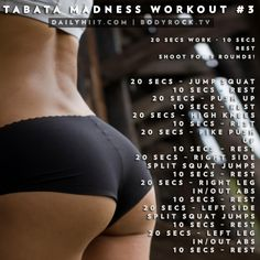 Tabata Madness Workout #3