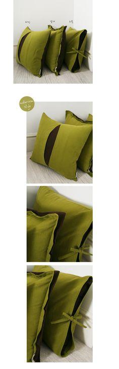 메이크룸 [심플어반 쿠션(green+brown)]