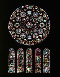 Stained glass at Chartres Cathedral in France, please oh please do look up this church, its construction and its labyrinth.