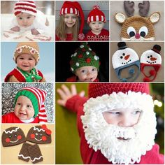 Crochet Christmas Hats - FREE Patterns