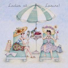 Cards » Ladies at Leisure » Ladies at Leisure - Berni Parker Designs