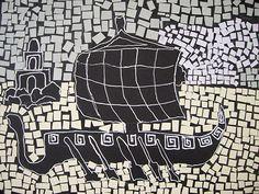Ancient Roman Style Paper Mosaics