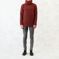 Image of Knitted Sweater Men Sweater, Sweaters, Image, Fashion, Moda, Fashion Styles, Men's Knits, Sweater, Fashion Illustrations