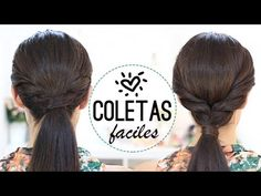 Coletas fáciles y bonitas - YouTube In Spanish, but one can see what she's doing