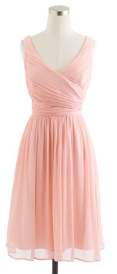 Gorgeous silk chiffon dress bridesmaid dresses