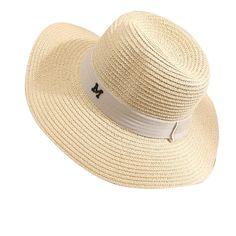 comprar 2018 verano nueva moda trigo Panamá sombrero de sol playa sombrero  Arco de la cinta nudo naval estilo paja sombrero mujer cap L195 ebe7ceb941d