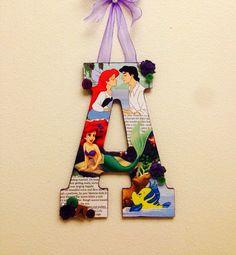 Any letter Little Mermaid Disney custom style by SpikaInteriors