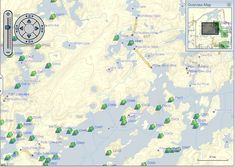 Boundary Waters Canoe Area map...my favorite place & former place of ...