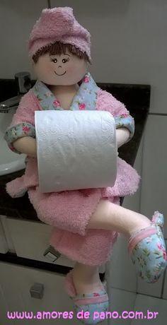 Amores de Pano: A famosa boneca porta papel higiênico!!! Aula de V...